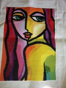 Art work by Thimas Fedro stitched by Lis Arndorfer Mess