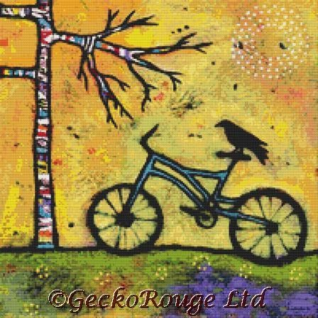 A Spectacular Day For A Ride By Lindy Gaskill Cross Stitch Kit
