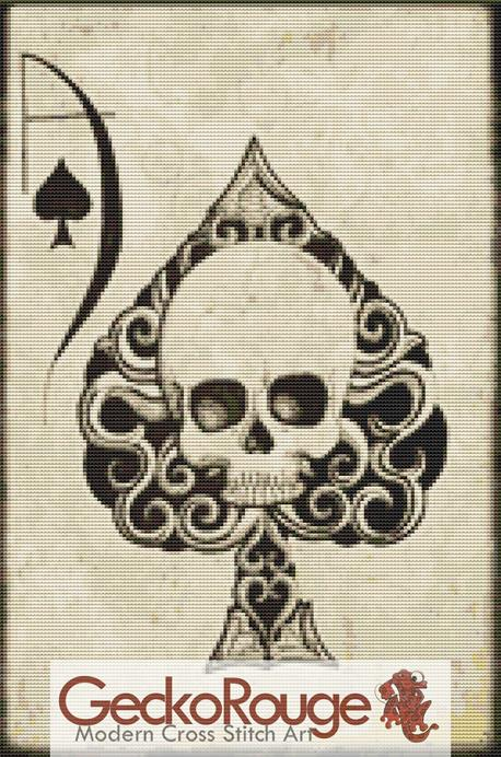 Ace of Spades By Shayne Of The Dead Cross Stitch Kit  (SDDACE)