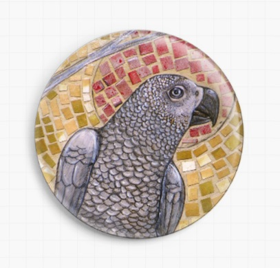 African Grey By Lynnette Shelley Licensed Art  Needle Minders