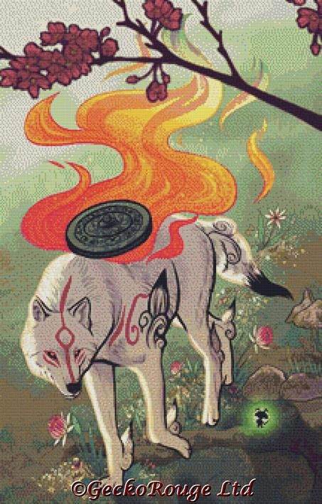 Amaterasu By Dailen Ogden Cross Stitch Kit