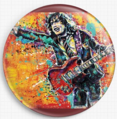 Angus Young By Sara Bowersock Needle Minder