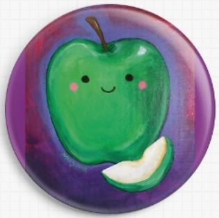 Apple By Megan Mars Licensed Art Needle Minder