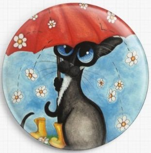 April Showers By AmyLyn Bihrle Licensed Art Needle Minder