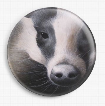 Badger By David Finney Licensed Art Needle Minder