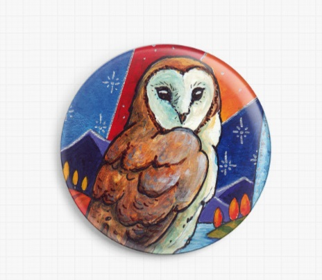 Barn Owl By Lesley D Mckenzie Licensed Art Needle Minder