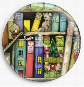 Bookshelf By Colin Thompson Licensed Art Needle Minder No: 4