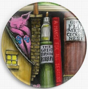 Bookshelf By Colin Thompson Licensed Art Needle Minder No: 4b