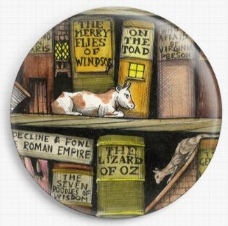 Bookshelf By Colin Thompson Licensed Art Needle Minder No: 8b