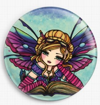 Bookworm Fairy By Hannah Lynn Licensed Art Needle Minder