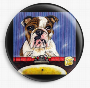 Bulldog Flossing By Jay Schmetz Licensed Art Needle Minder