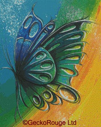 Butterfly 2 By Reina Cottier Cross Stitch Kit