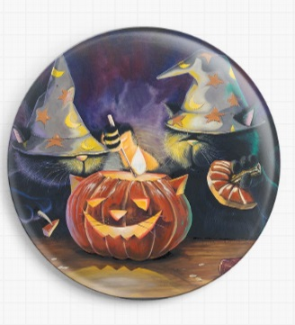 Cat O Lantern By David Smith Licensed Art Needle Minder