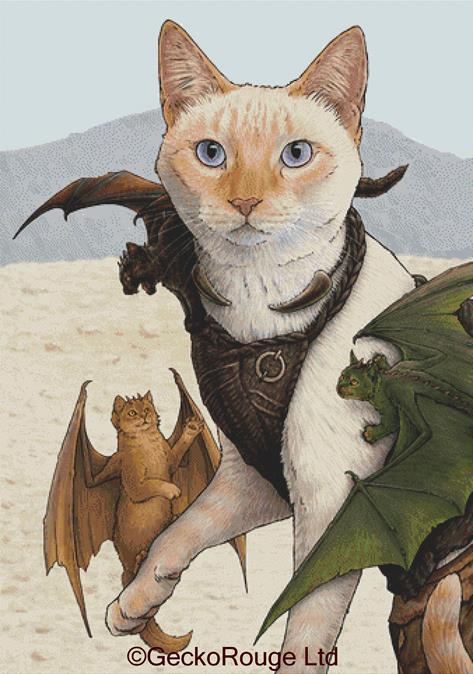 Catleesi Mother Of Cat Dragons By Jenny Parks Cross Stitch Kit