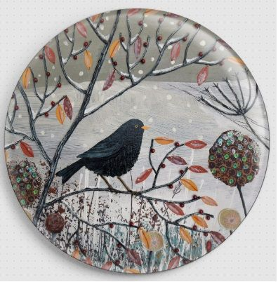 Caught in the Snow By Jo Grundy Needle Minder - 1 Bird