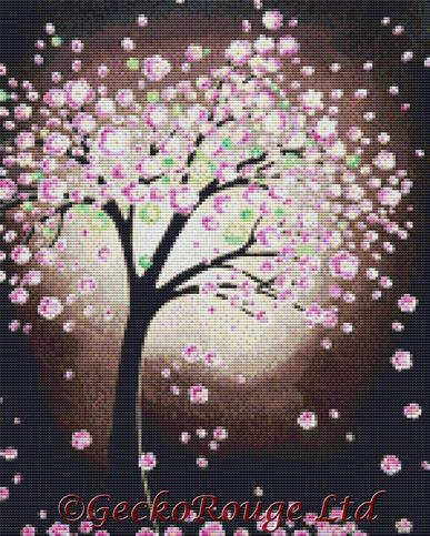 Cherry Blossom By Helen Janow Miqueo Cross Stitch Kit