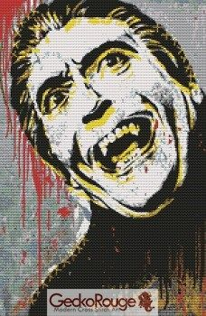 Christopher Lee, Dracula By Sara Bowersock Cross Stitch Kit