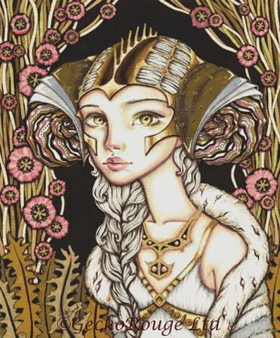 Cyber Lady By Tanya Bond Cross Stitch Kit
