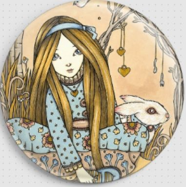 Down The Rabbit Hole By Anita Inverarity Licensed Art Needle Minder