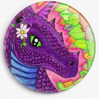 Earth Dragon By Angel Kitten Art Licensed Art Needle Minder