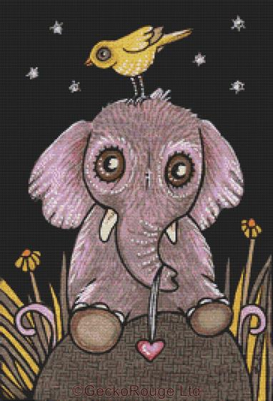 Edith By Anita Inverarity Cross Stitch Kit - Elephant (AIVELE80)