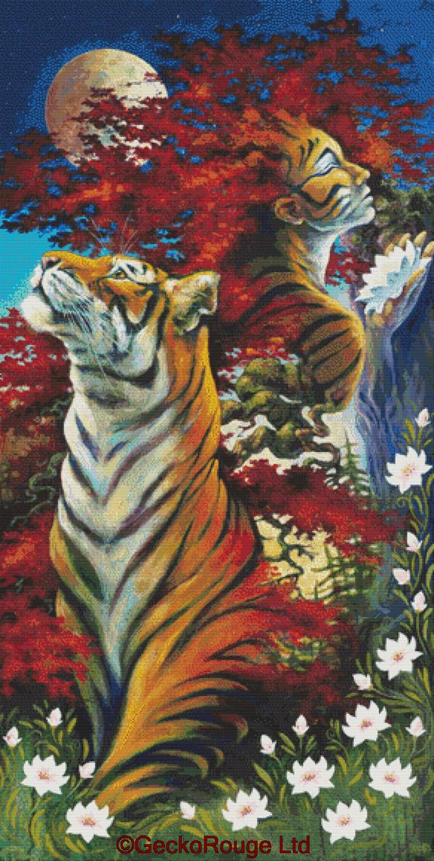 Evermore By Lesley D Mckenzie Cross Stitch Kit - Tiger