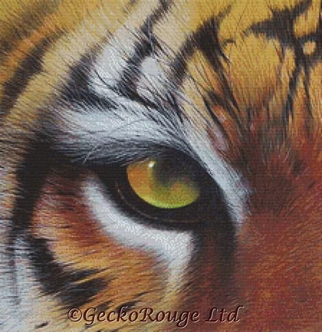 Eye of the Tiger By David Finney Cross Stitch Kit