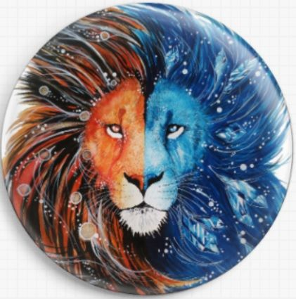 Fire and Ice Lion Licensed Art Needle Minder By Scandy Girl