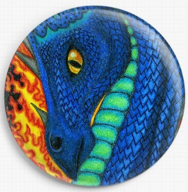 Fire Dragon By Angel Kitten Art Licensed Art Needle Minder