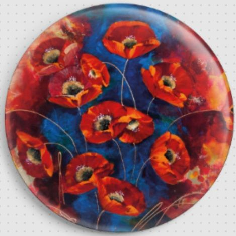 Floating Red Poppies By Rozanne Bell Needle Minder