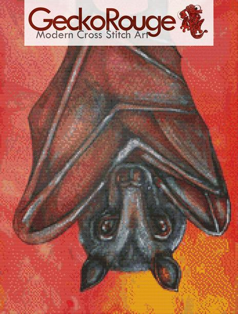 Flying Fox At Rest By Lynnette Shelley Counted Cross Stitch Kit (LSFYBT)