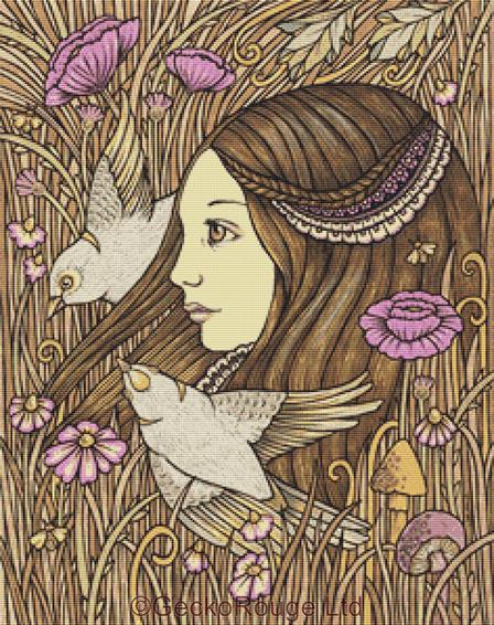 Gaia's Daughter By Anita Inverarity Cross Stitch Kit (AIVGD47)