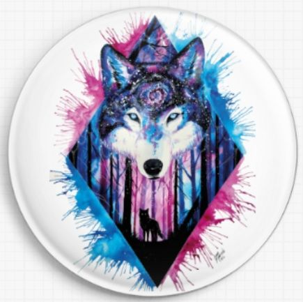Galaxy Wolf Licensed Art Needle Minder By Scandy Girl