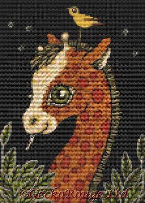 Ginger Giraffe By Anita Inverarity Cross Stitch Kit (AIVGG32)