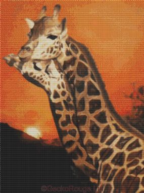 Giraffes By April Rafko Cross Stitch Kit