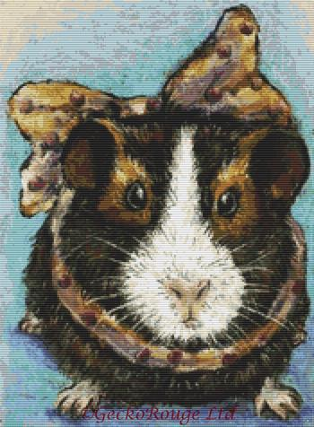 Guinea Pig By Tanya Bond Cross Stitch Kit