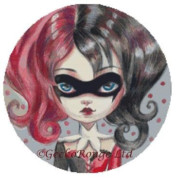 Harley Quinn By Simona Candini Cross Stitch Kit