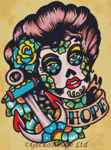 Hope By Illustrated Ink Cross Stitch Kit