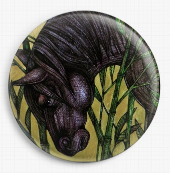 Horse Bamboo By Lynnette Shelley Licensed Art Needle Minder