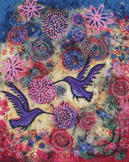 Hummingbird Garden By Lindy Gaskill Cross Stitch Kit