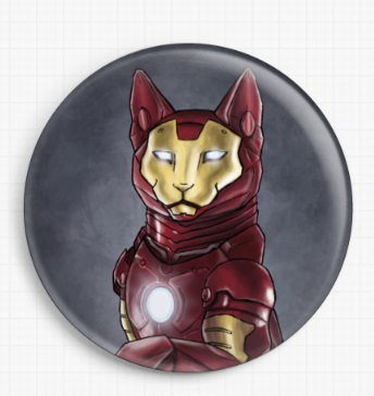 Iron Cat By Jenny Parks Licensed Art Needle Minder