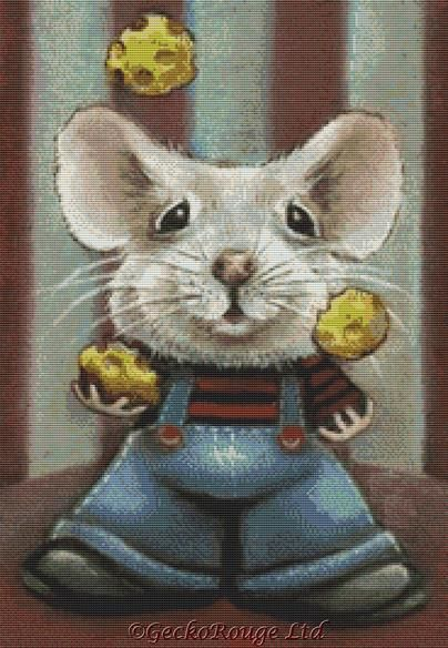 Juggler Mouse By Tanya Bond Cross Stitch Kit