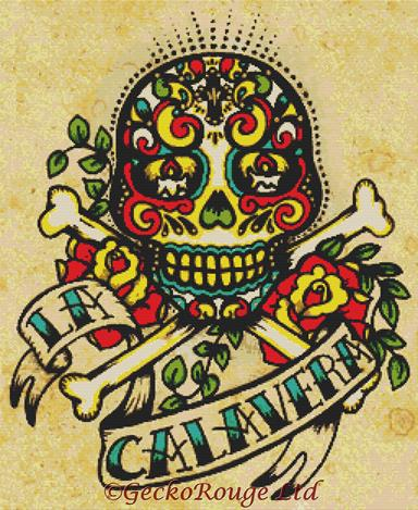 La Calavera By Illustrated Ink Cross Stitch Kit