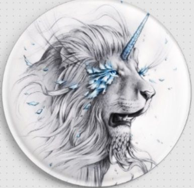 Lion Soul by Jonas Joedicke Licensed Art Needle Minder