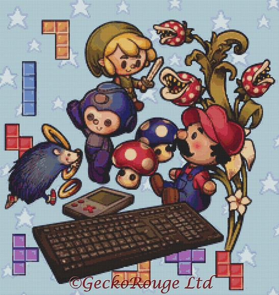 Little Gamer By Medusa Dollmaker Cross Stitch Kit (MDOLLTGM)