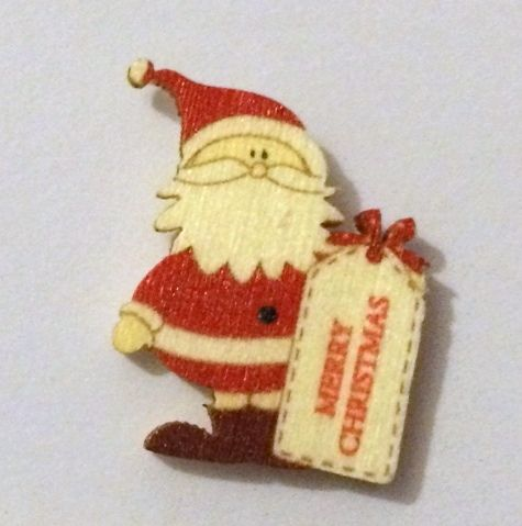 Little Santa - Wooden Needle Minder (a)