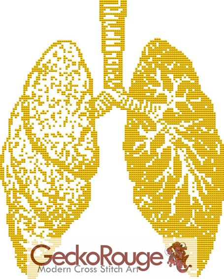 Lungs Counted Cross Stitch Kit (FSLNG444)