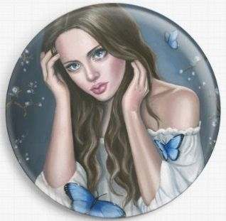 Midnight By Emily Luella Licensed Art Needle Minder