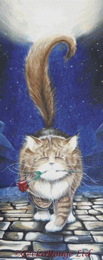 Midnight Casanova By David Smith Cross Stitch Kit - Cat