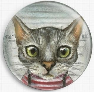 Mugshot of a cat felon arrested while attempting a New York bank heist By Tanya Bond Licensed Art Needle Minder